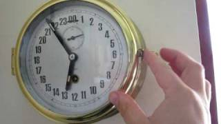 Repeat youtube video Chinese ship's clock with 24hr dial