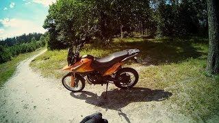 Лес по песку на Viper v250vxr Irbis xr250(Пробный заезд по песчаной дороге в лесу на мотоцикле Viper v250vxr / Irbis xr250. Из собственного опыта езды на этом..., 2014-07-01T07:49:14.000Z)