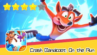 Crash Bandicoot: On the Run! Day2 Walkthrough Run, spin, swipe and smash Recommend index four stars