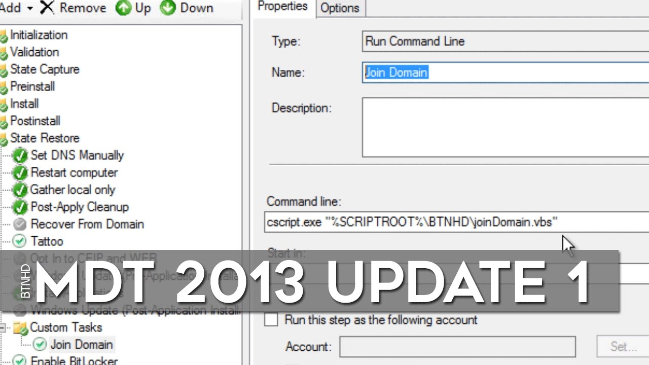 How To Domain Join a Computer Using MDT 2013 Update 1