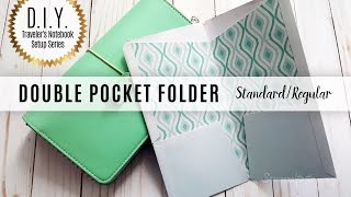DIY Double Pocket Folder for Standard/Regular Size Midori/Fauxdori Style Traveler's Notebook