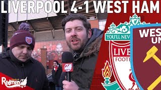 Liverpool v West Ham 4-1 | Oppo Reaction with West Ham Fan TV