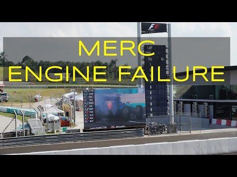 2016 Lewis Hamilton Malaysian F1 Grand Prix Engine Failure with Fire [Plus Crowd Reaction]