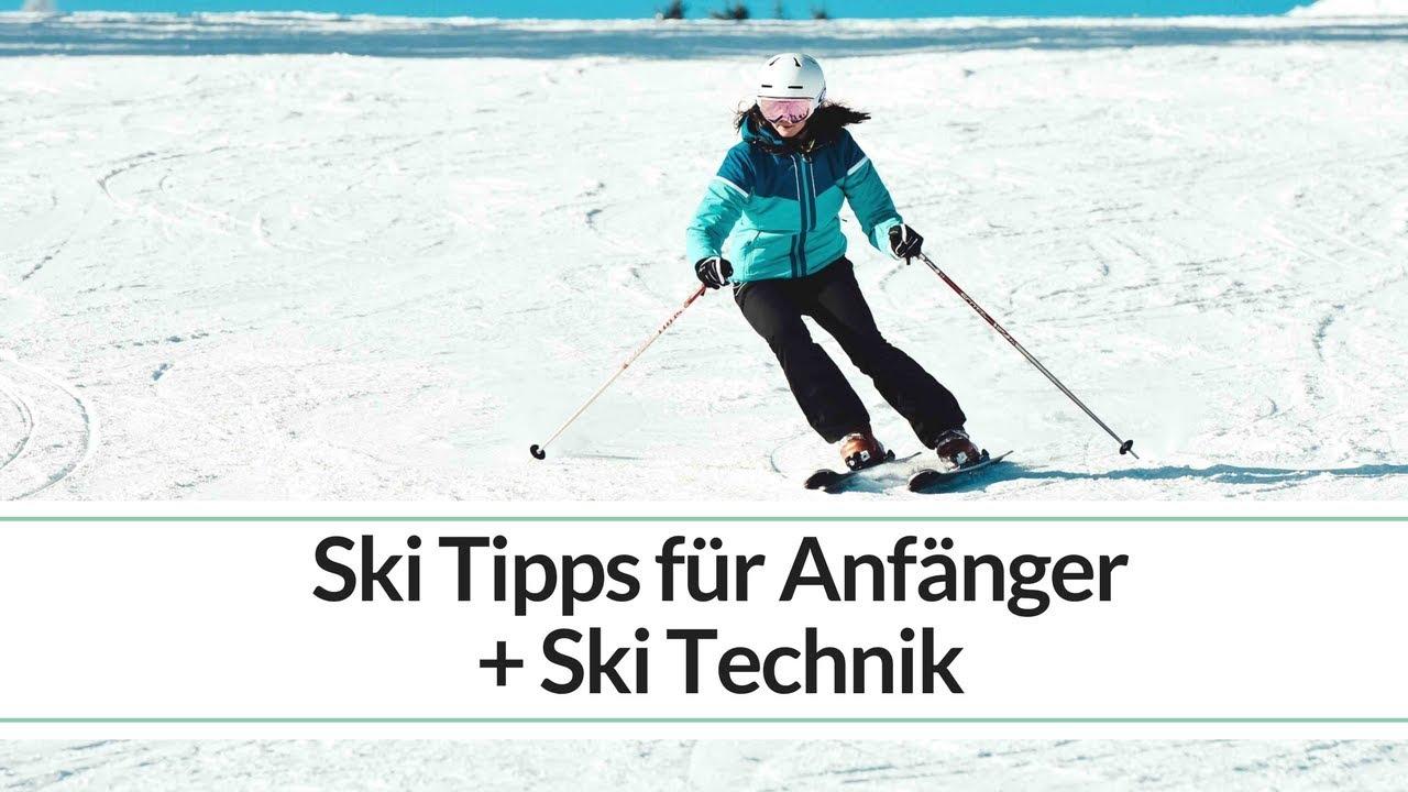 Skitechnik und skifahren tipps für anfänger carving