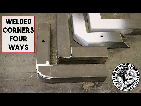 4 DIFFERENT WAYS TO WELD BOX SECTION CORNERS. SQUARE TUBE 90