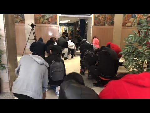 Why Hundreds of Students Kneeled In Silence Instead of Walking Out