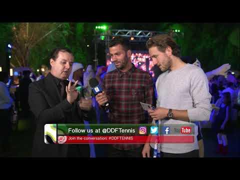 Jean-Julien Rojer & Lucas Pouille In A Magic Show at Dubai Duty Free Tennis Championshipss