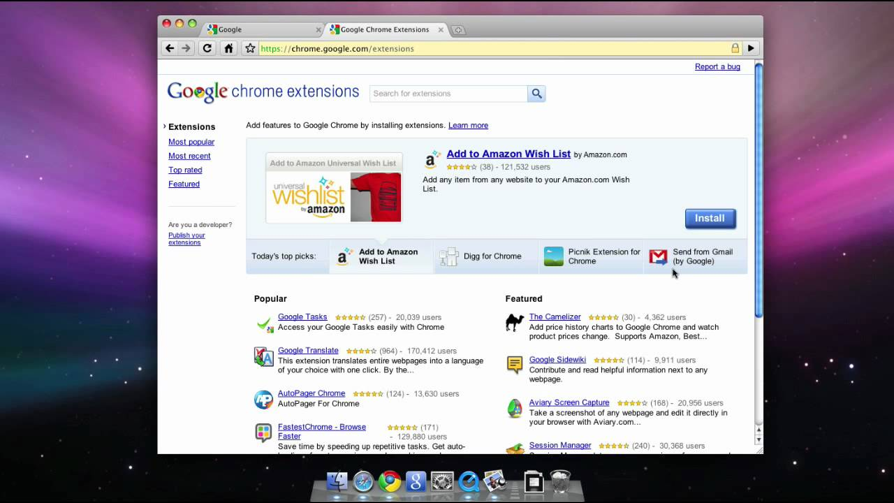 add to amazon wish list chrome extension