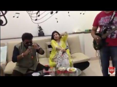 Shravan rathod(nadeem shravan)and alka yagnik rehearsal
