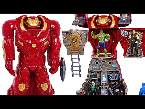 Marvel Avengers Infinity War Hulkbuster Ultimate HQ transform! Defeat the Thanos! - DuDuPopTOY