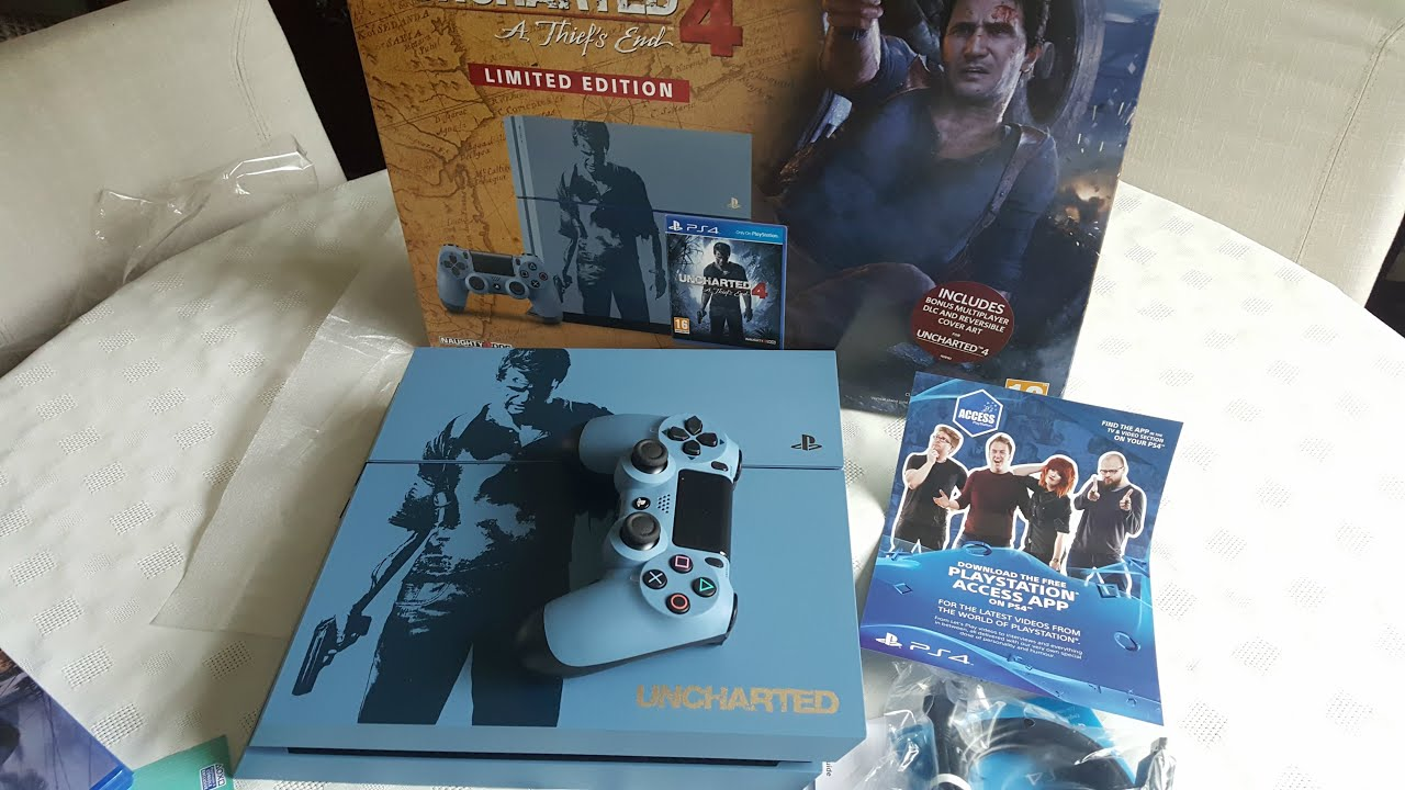 Playstation 4 Uncharted 4 Limited Edition Bundle Unboxing On