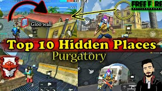 New Top 10 Hiding / Hidden places in Purgatory map Garena Free Fire by DEATH RAIDER GAMING