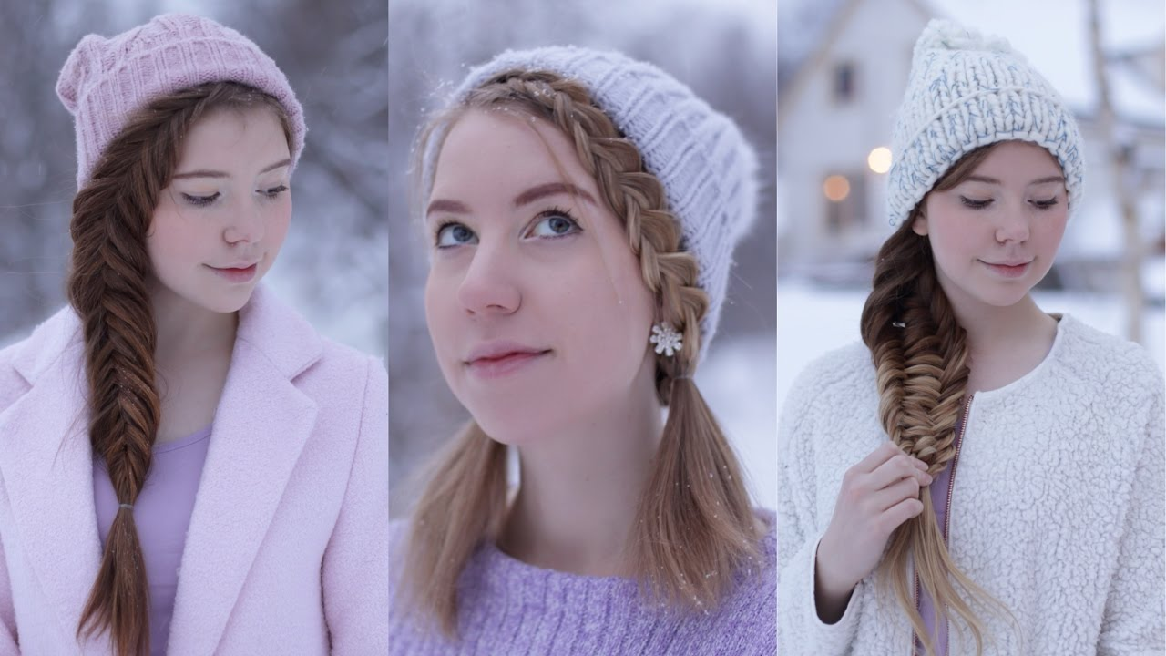 Hairstyles To Wear With A Beanie Winter Hairstyles Youtube