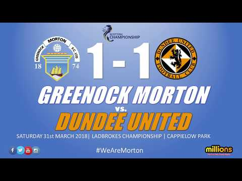 Match Highlights: Morton 1-1 Dundee United (Saturday 31 March 2018)