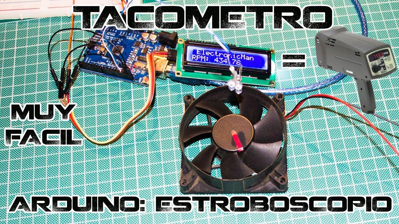 Medidor de revoluciones con arduino tacómetro por efecto