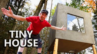 Building 'The Forest Cube' | Tiny 64 sq ft. House on Stilts