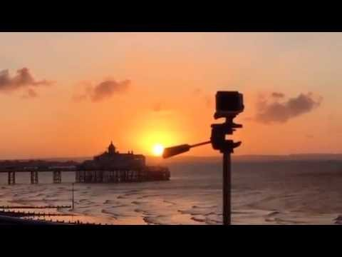 #3  A Morning Sunrise Live on Periscope in Eastbourne England extraordinary colours in the sky