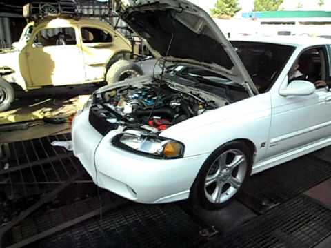 Sentra SER Spec V Turbo Dyno High Boost (17-18psi) - YouTube