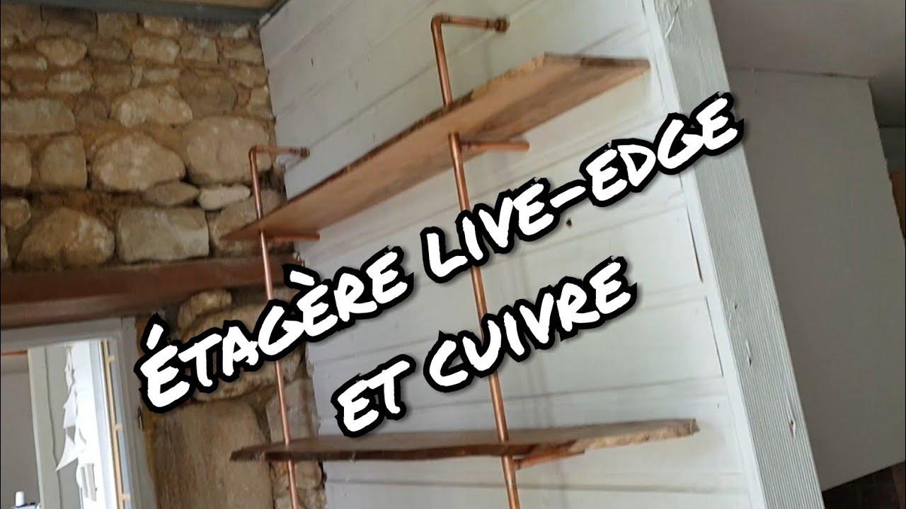 comment faire une etagere en bois et cuivre