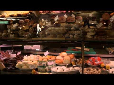 Specialty deli in Bologna Italy.