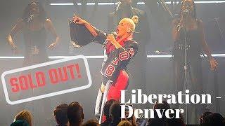 Liberation Tour (Oct. 19th) xtina FALLS on stage & sings w/ BRONCHITIS (still slayed)