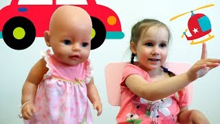 Baby Born doll and kids transport Educational video