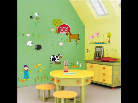 kids wall stickers: Ideas for decorating a baby boy room - YouTube