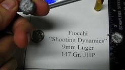 9mm Luger - Fiocchi 147 Gr. Shooting Dynamics - Ammo Test