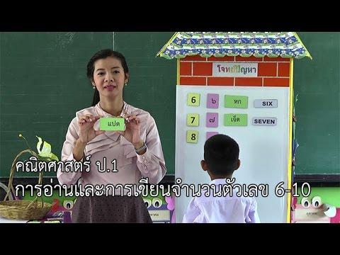 คณิตศาสตร์ ป.1 การอ่านและการเขียนจำนวนตัวเลข 6 -10 ครูมาลิณี ชมภูวิเศษ