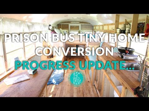 Our Debt-Free Life - Prison Bus Skoolie Tiny Home Conversion Progress
