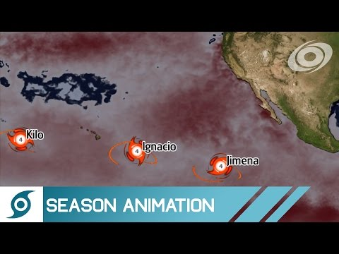 2015 Pacific Hurricane Season Animation