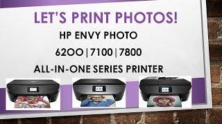 HP Envy Photo 6200 | 7100 | 7800 series Printers : Load and print photos
