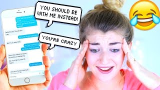Song Lyric Text Prank ON MY SISTERS BOYFRIEND Treat You Better by Shawn Mendes!