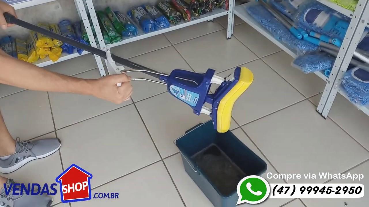 Rodo Mágico Dobrável Limpador Seca Tudo Pro