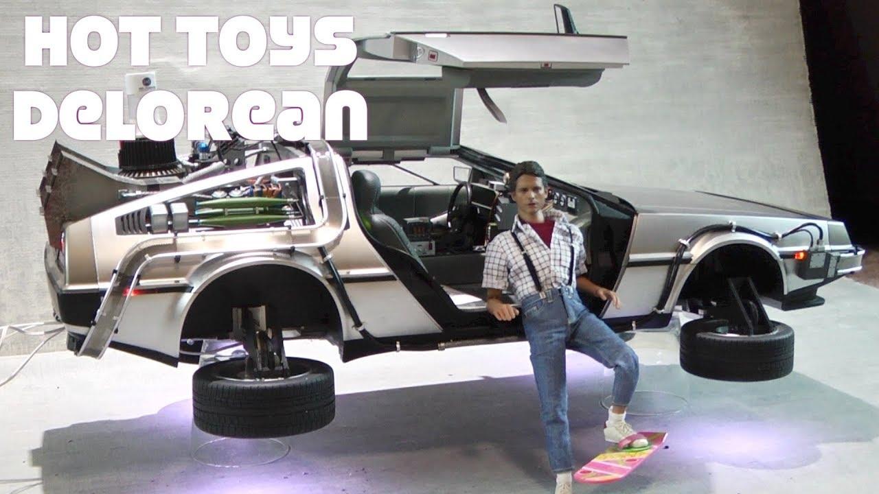 Custom Hot Toys Hover Delorean Back To The Future Part II Flight Mode