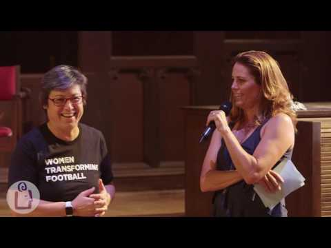 Julie Foudy introduces Choose to Matter at University Book Store