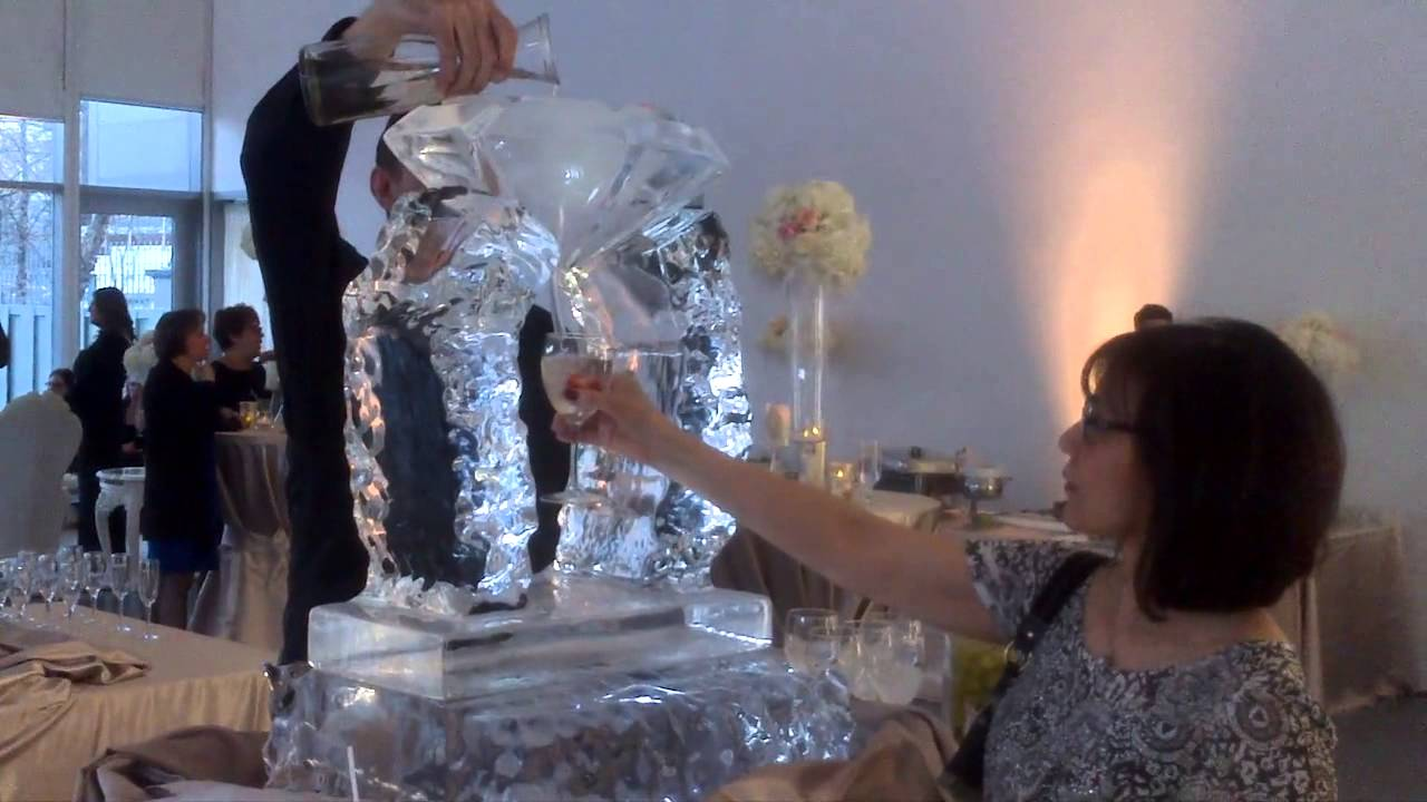 A Beautiful Martini Ice Luge For Wedding And Events