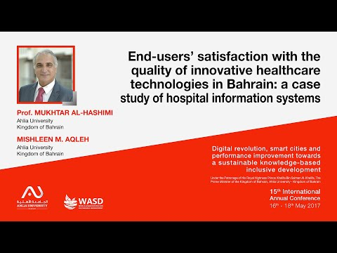 End-users' satisfaction with the quality of innovative healthcare technologies in Bahrain