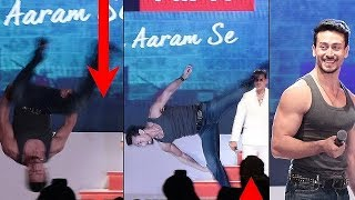 Download Video Tiger Shroff LIVE Action Jump In Public At Launch Of Macho New Sub Brand MP3 3GP MP4