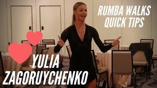 Yulia Zagoruychenko | How to dance Rumba Walks | Ballroom latin