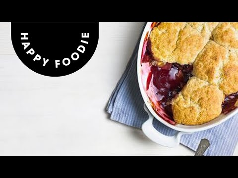 Apple And Blackberry Cobbler Step By Step Desserts Youtube