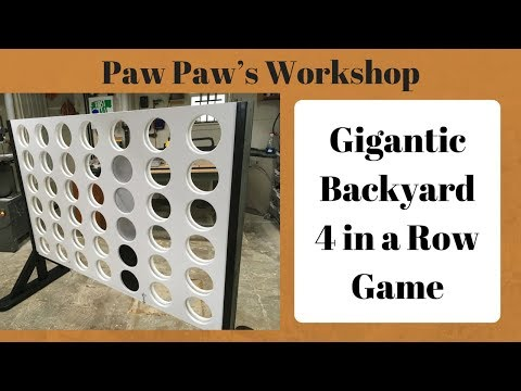 How to Make Gigantic Backyard 4 in a Row Game