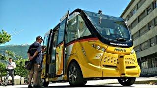 В Швейцарии тестируют самоуправляемые электробусы (новости)(, 2016-06-24T11:21:05.000Z)