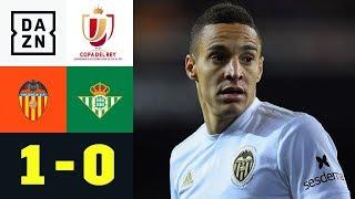 Rodrigo schießt Valencia ins Finale: FC Valencia - Betis Sevilla 1:0 | Copa del Rey| DAZN Highlights