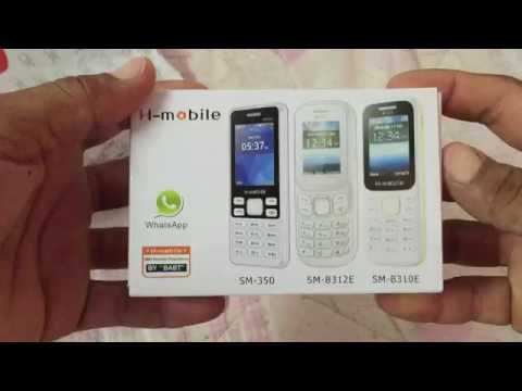 H mobile 350 unboxing made in China  whatsaap-memory card-flash camera-price AED.1-from UAE