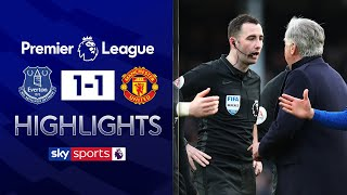 Ancelotti sent off after controversial winner disallowed! | Everton 1-1 Man Utd | EPL Highlights