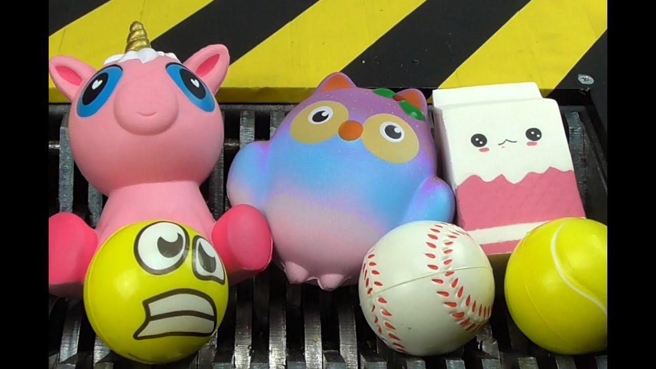 Shredding Cute Squishy Family Toys Whats Inside Squishy Unicorn Milk And Owl
