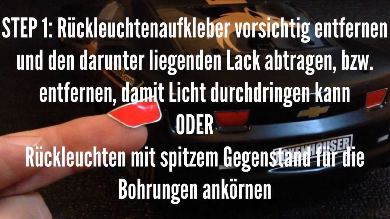 RC Beleuchtung mit Anleitung - LED Lights - YouTube