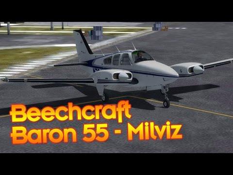 Beechcraft Baron 55 Impressions and Short Flight - Prepar3d/FSX