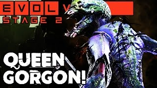 QUEEN GORGON ATTACKS!! STAGE TWO CO-OP!! Evolve Gameplay Walkthrough (PC 1080p 60fps)